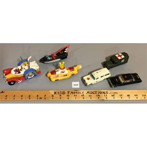 LOT OF TOY VECHICLES. INCL. CORGI BEETLES & DINKY