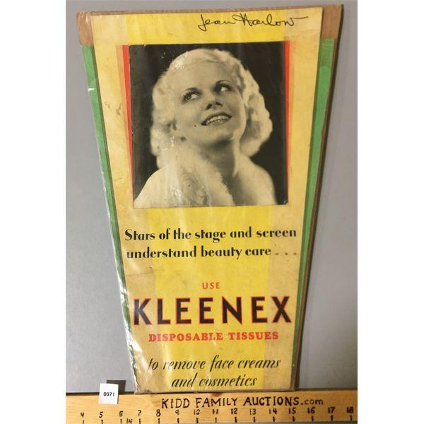 JEAN HARLOW KLEENEX ADVERTISEMENT