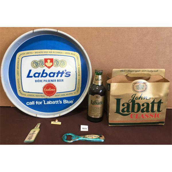 LOT OF LABATT'S BLUE TRAY & ACCESSORIES
