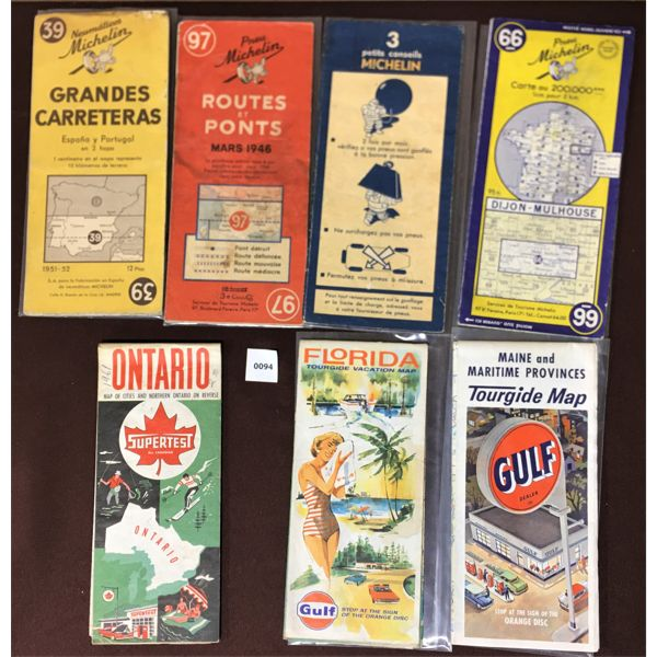 LOT OF 7 MICHELIN & OTHERS ROAD MAP