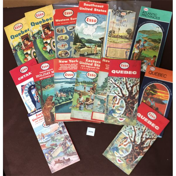 LOT OF 15 ROAD MAPS