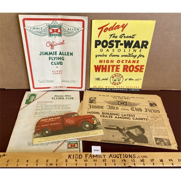 LOT OF B/A AND WHITE ROSE PAPER COLLECTIBLES