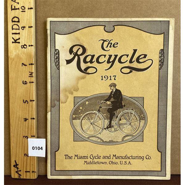 1917 THE MIAMI CYCLE SALES CATALOG