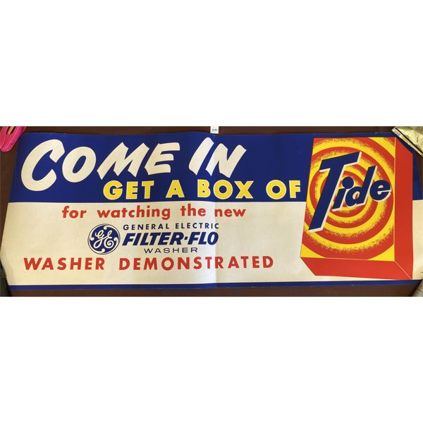 GENERAL ELECTRIC TIDE PAPER ADVERTISING BANNER