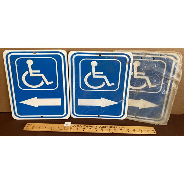 LOT OF 3 WHEELCHAIR ACCESSIBLE SIGNS