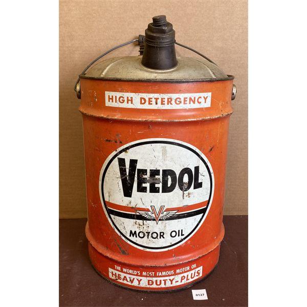 VEEDOL 5 GAL MOTOR OIL CAN