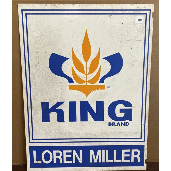 KING BRAND SEEDS DOUBLE SIDED METAL SIGN