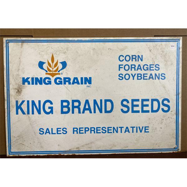 KING GRAIN SEEDS METAL SIGN