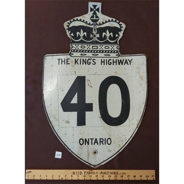 THE KING'S HIGHWAY 40 ONTARIO SIGN