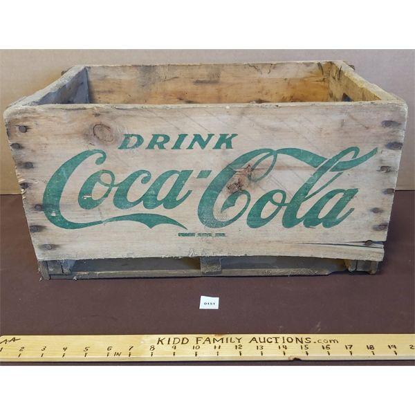 DRINK COCA COLA WOODEN BOX