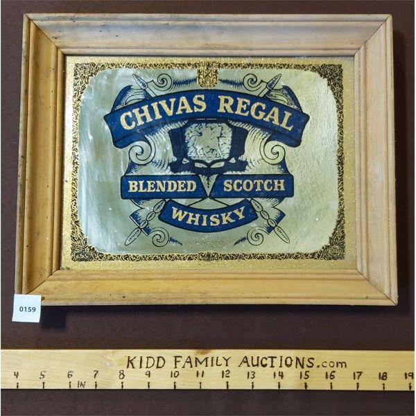 CHIVAS REGAL BLENDED SCOTCH FRAMED MIRROR ADVERTISEMENT
