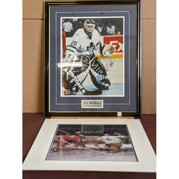 LOT OF 2 - SIGNED HOCKEY PLAYER PORTRAITS