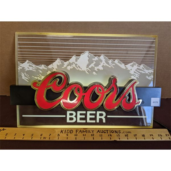 COORS BEER LIGHT-UP SIGN