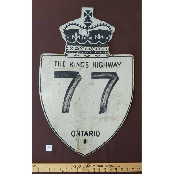 THE KING'S HIGHWAY 77 ONTARIO SIGN