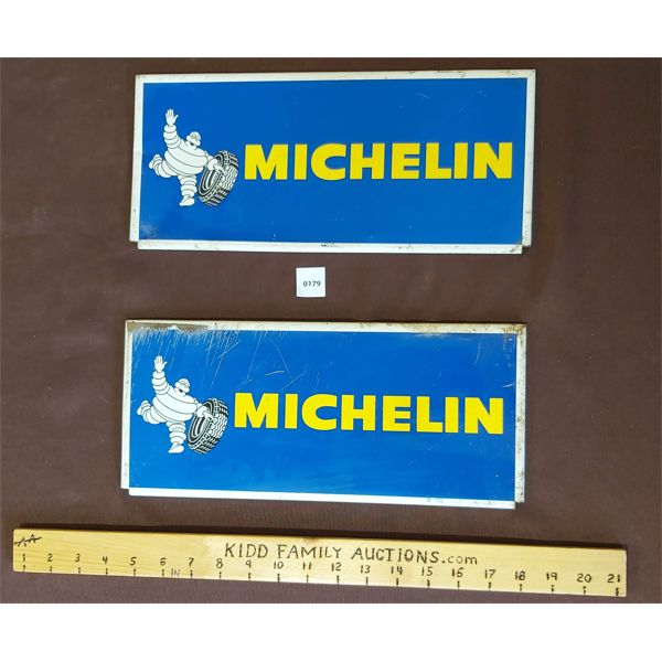 PAIR OF MICHELIN TIRE TIN DISPLAY FRONTS