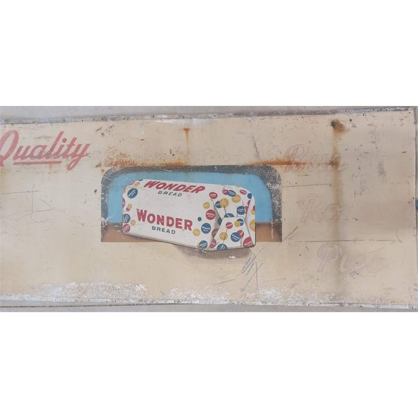 WONDER BREAD ONE SIDED TIN SIGN