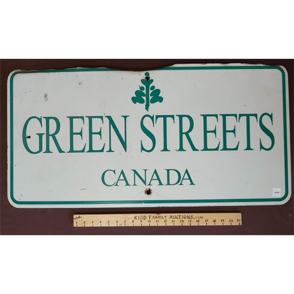 GREEN STREETS CANADA  METAL SIGN
