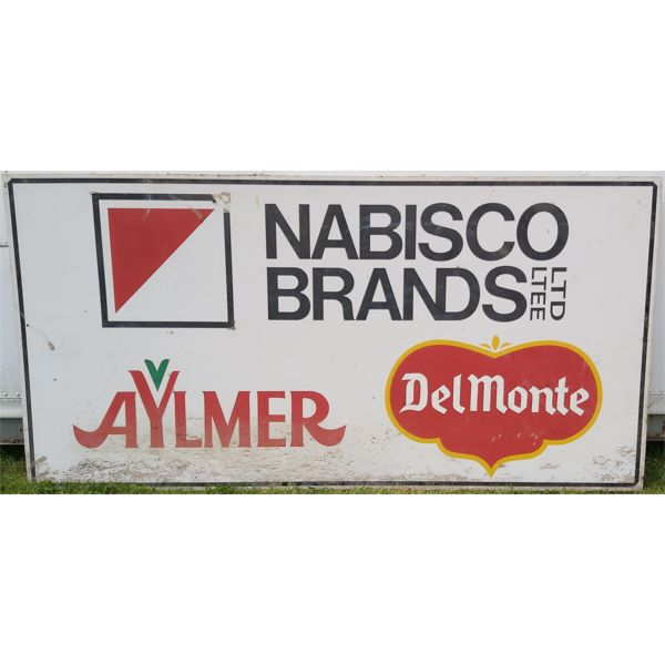 SINGLE SIDED PLYWOOD ADVERTISING NABISCO/AYLMER/DEL MONTE