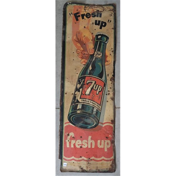 SST 7-UP ADVERTISING SIGN