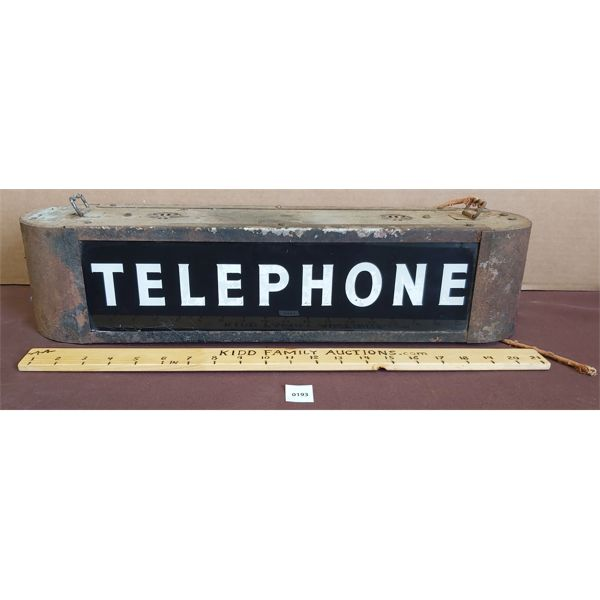 VINTAGE TELEPHONE LIGHT BOX - DBL SIDED