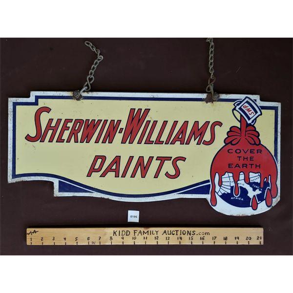 "SHERWIN-WILLIAMS DSP HANGING SIGN - 11"" X 24"""