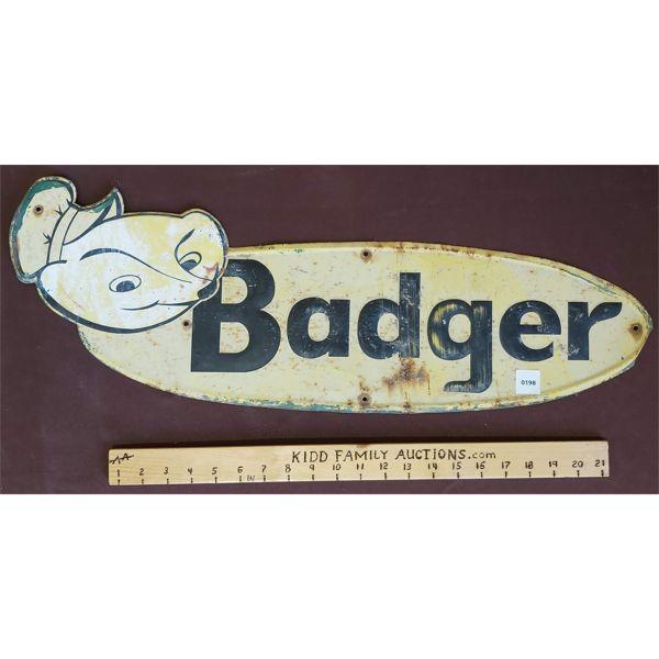 "BADGER SST EMBOSED SIGN - APPROX 27.5"""