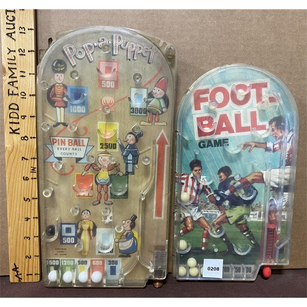 TWO SMALL PIN BALL GAMES