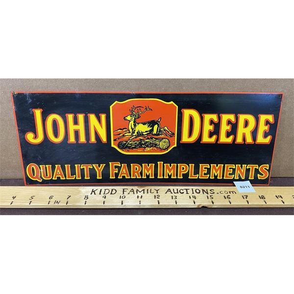 "JOHN DEERE FARM IMPLEMENTS SST SIGN - 15"" X 6"""