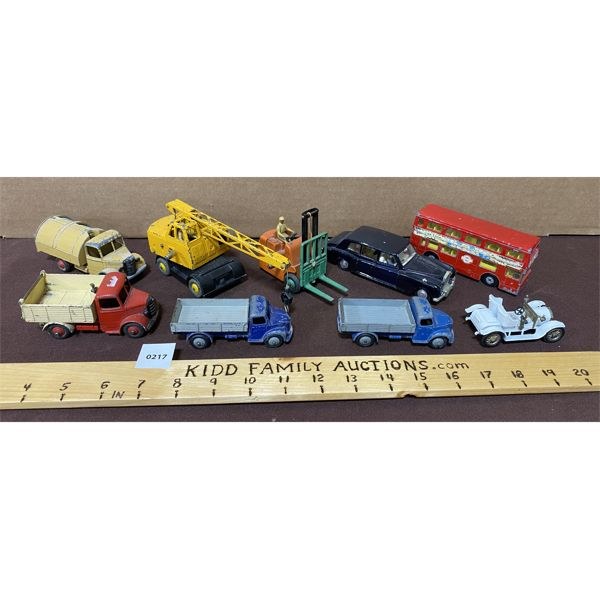 LOT OF 9 DIECAST VEHICLES - DINKY, LESNEY