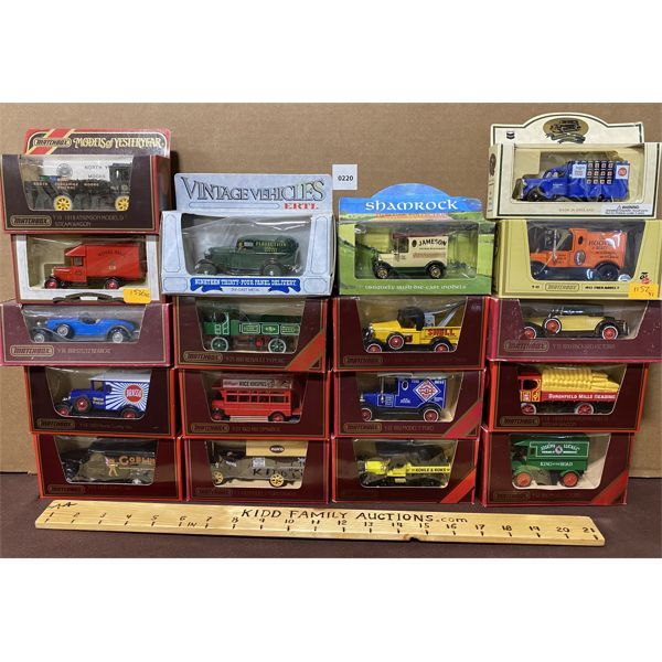LOT OF 18 MODELS OF YESTERYEAR DIECAST TOYS
