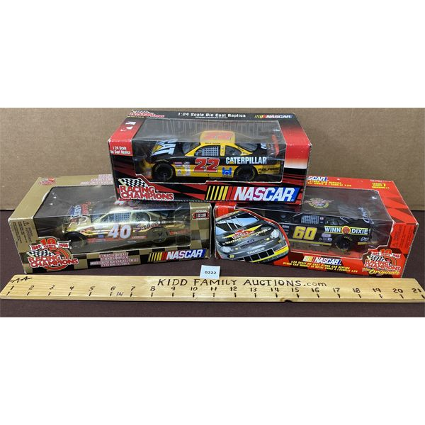 LOT OF 3 - 1/24 SCALE NASCAR DIECAST TOYS
