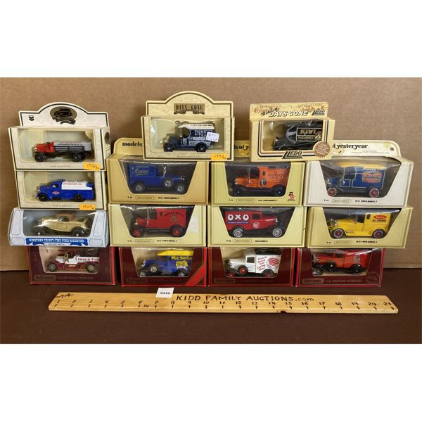 LOT OF 15 MODELS OF YESTERYEAR DIECAST VEHICLES