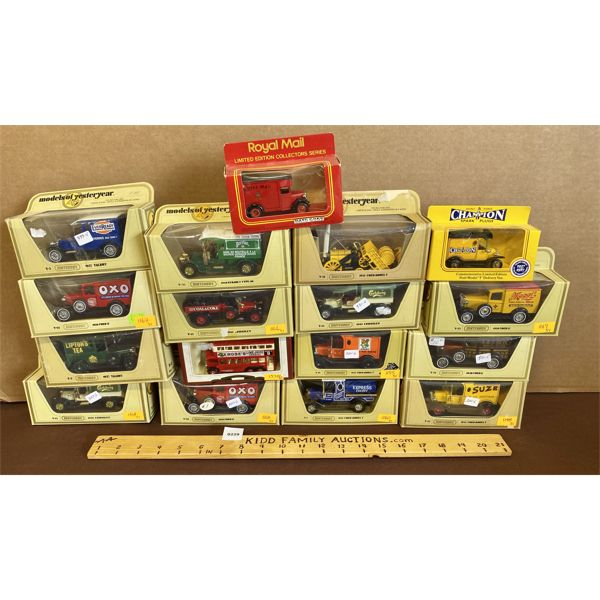LOT OF 17 MODELS OF YESTERYEAR DIECAST VEHICLES