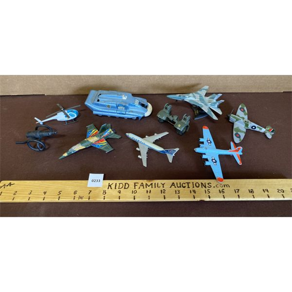 LOT OF 9 - MILITARY TOYS - DINKY, MADE IN GERMANY, ETC.