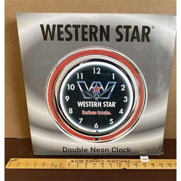 WESTERN STAR CLOCK - NEW IN BOX