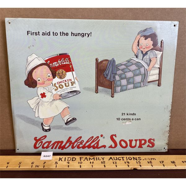 CAMPBELL'S SOUPS - SST SIGN - 1993 REPRO