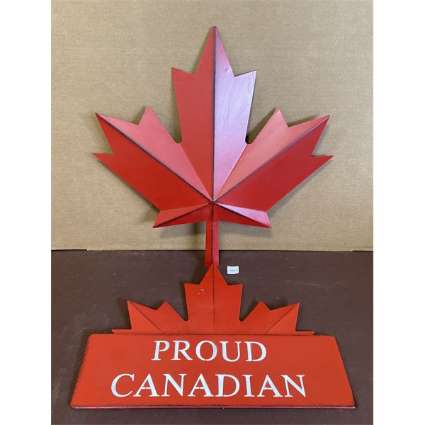 """LOT OF 2 - """"CANADIAN"""" METAL DECO SIGNS"""