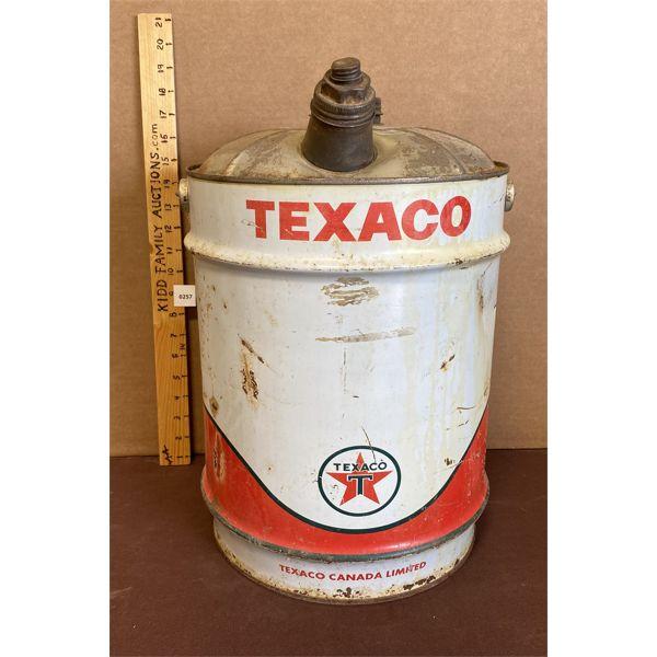 TEXACO 5 GAL FUEL CAN