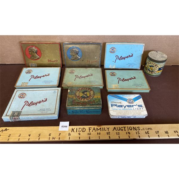 LOT OF 10 - TOBACCO TINS - PLAYER'S