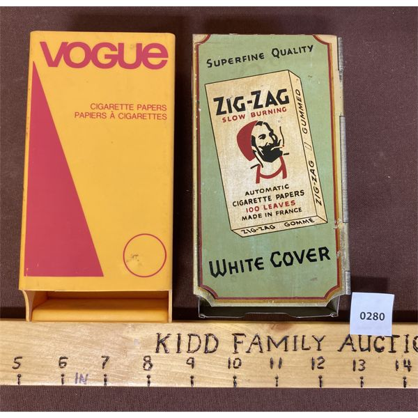 LOT OF 2 - CIGARETTE PAPER DISPERNSERS ZIG ZAG AND VOGUE