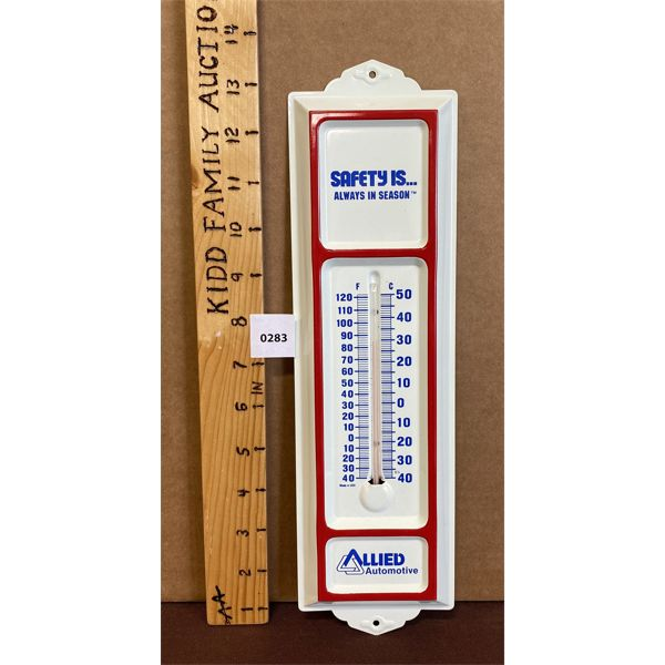 """ALLIED AUTOMOTIVE THERMOMETER - GLASS INTACT - 13"""""""