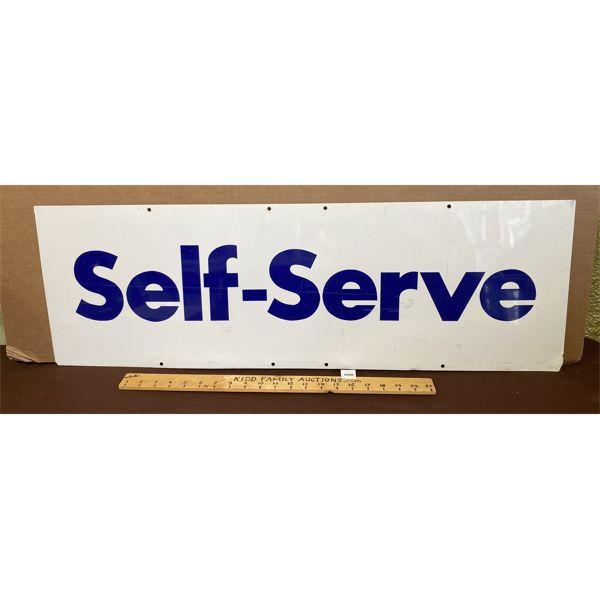 "SELF - SERVE SST SIGN - 12"" X 36"""