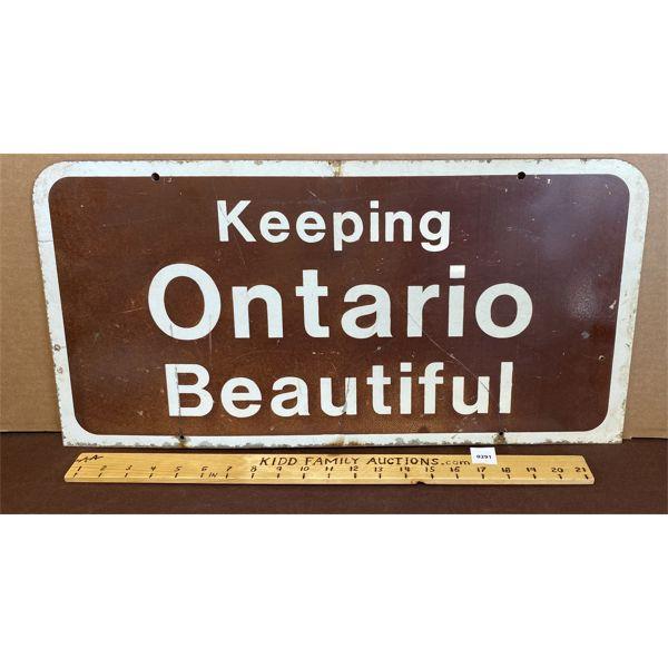KEEPING ONTARIO BEAUTIFUL ROAD SIGN