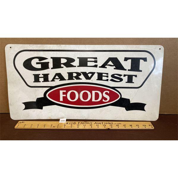 """GREAT HARVEST FOODS SST SIGN - 12"""" X 24"""""""