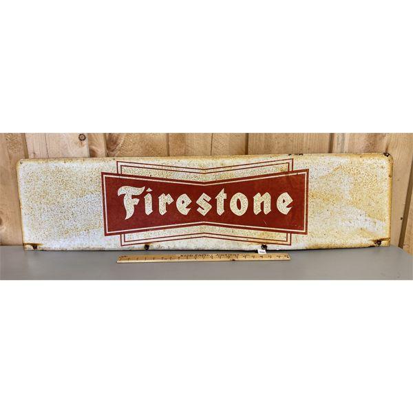 "FIRESTONE DST SIGN - 12"" X 48"""
