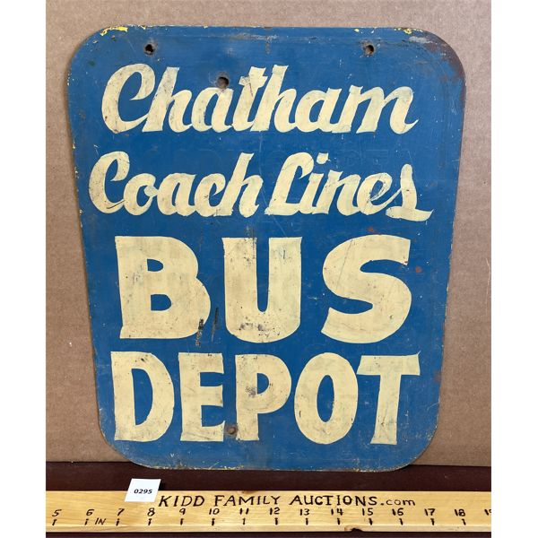 CHATHAM COACH LINES BUS DEPOT SIGN