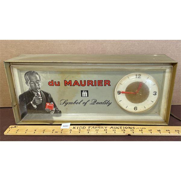 DU MAURIER CIGARETTES LIGHT UP CLOCK