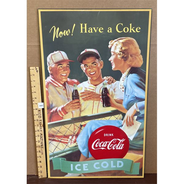 "COCA-COLA ADVERTISMENT ON BOARD - 30"" X 17.5"""