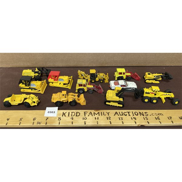 LOT OF 11 CONSTRUCTION VEHICLES