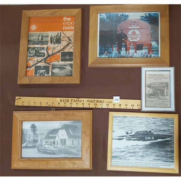 JOB LOT OF SUPERTEST PICTURES AND FRAMED ADVERTISEMENTS